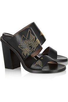 Shop on-sale Chloé Studded leather sandals. Browse other discount designer Sandals & more on The Most Fashionable Fashion Outlet, THE OUTNET.COM