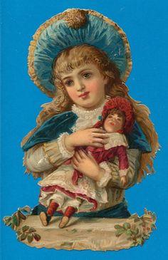 Glanzbilder - Victorian Die Cut - Victorian Scrap - with a doll Clip Art Vintage, Éphémères Vintage, Vintage Crafts, Vintage Labels, Vintage Ephemera, Vintage Paper, Vintage Postcards, Victorian Dolls, Victorian Art