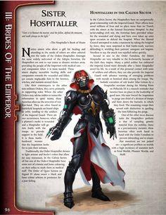 Sister Hospitaller (Warhammer Blood of Martyrs) Warhammer Lore, Warhammer 40000, War Hammer, The Grim, Sci Fi Fantasy, Science Fiction, Monsters, Battle, Star Wars