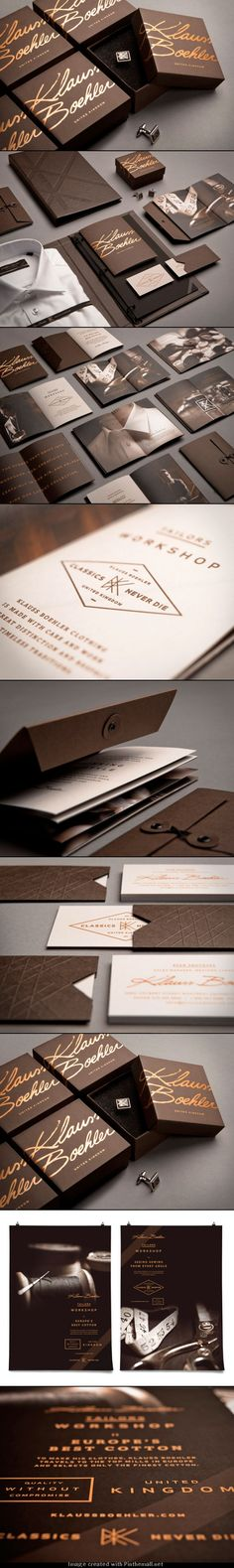 Klauss Boehler | #stationary #corporate #design #corporatedesign #identity #branding #marketing < repinned by www.BlickeDeeler.de | Visit our website: www.blickedeeler.de/leistungen/corporate-design