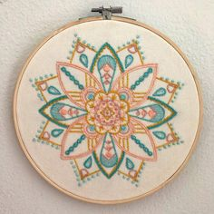 New Photographs Embroidery Patterns mandala Thoughts You have figured out most the standard connected with sewing, taken online bathing room instructional classes Hand Embroidery Patterns Free, Embroidery Hoop Crafts, Hand Embroidery Videos, Embroidery Sampler, Embroidery Flowers Pattern, Creative Embroidery, Hand Embroidery Stitches, Cross Stitch Embroidery, Advanced Embroidery