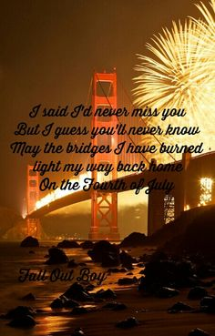 fourth of july fall out boy paroles