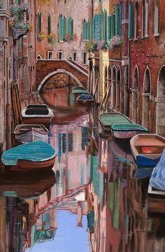 Venezia A Colori Painting  - Venezia A Colori Fine Art Print