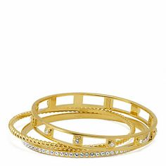 PAVE ROPE BANGLE SET