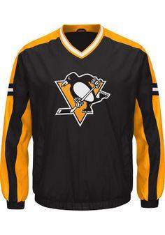 Pitt Penguins Mens Black Draft Pick Pullover