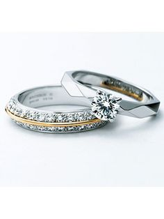 "Both bride and groom have a wedding band with writing on the inside. One says ""I am my beloved's"" and the other says ""and my beloved is mine"" High Jewelry, Modern Jewelry, Jewelry Accessories, Best Engagement Rings, Rings For Girls, Love Ring, Fashion Rings, Jewelery, Wedding Rings"
