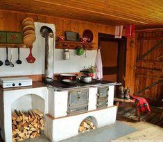 Modern Home Decor Kitchen Home Decor Kitchen, Home Kitchens, Kitchen Design, Wood Panneling, Wood Backsplash, Wood Pergola, Wood Fired Oven, Kitchen Stove, Stove Fireplace