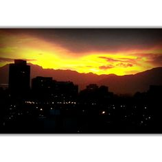 Amanecer en Santiago.Mayo 2015