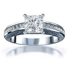 So beautiful, delicate design, yet classic looking. Love Princess Cut.