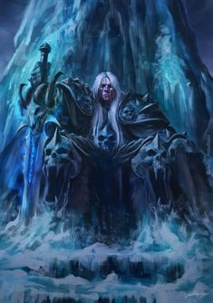 Arthas Menethil from World of Warcraft, digital drawing done by Fadly Romdhani World Of Warcraft Characters, Fantasy Characters, Dark Fantasy Art, Dark Art, Art Warcraft, Warcraft Funny, Arthas Menethil, World Of Warcraft Wallpaper, Character Art