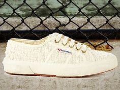 Classic Crochet Superga Sneakers from Veronica Webb on OpenSky