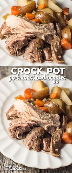 Crock Pot Pork Roast and Veggies: Such an easy and delicious recipe for family dinner!