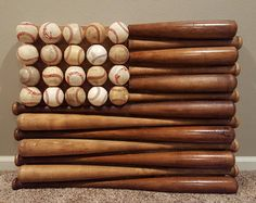 Items similar to Patriotic Red White and Blue Baseball Bat & Ball American Flag Hanging Wood Wall Decor on Etsy