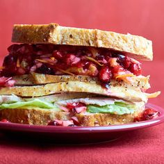 Fresh Cranberry-Citrus Relish Sandwich. Best part of Thanksgiving.