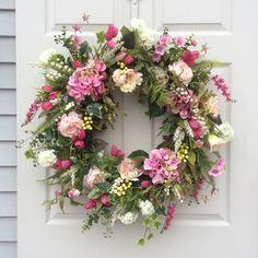 XL Spring Wreath-Valentine Wreath-Front Door by ReginasGarden