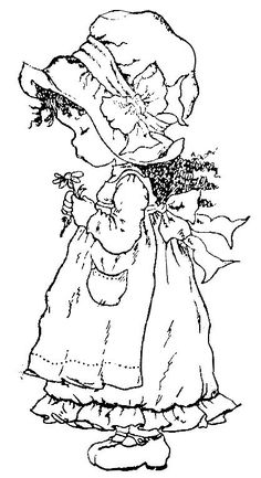 Sarah Kay Coloring Pages Holly Hobbie, Coloring Book Pages, Coloring Pages For Kids, Embroidery Patterns, Hand Embroidery, Sarah Key, Hobbies To Try, Digi Stamps, Free Coloring