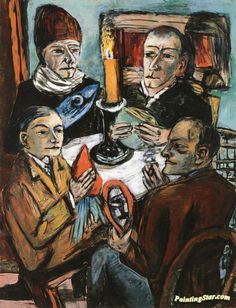 Artists with Vegetables Artwork by Max Beckmann Hand-painted and Art Prints on canvas for sale,you can custom the size and frame