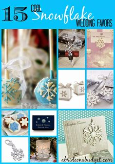 15 Cool Snowflake Wedding Favors #winterwedding