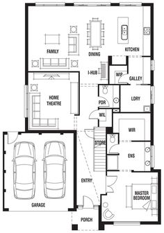 22 best floor plans images on pinterest floor plans house design house design marbella porter davis homes malvernweather Choice Image