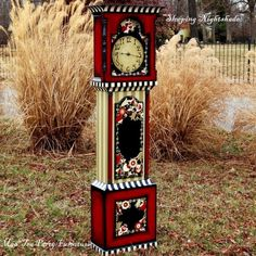 fantastic..I want to find a grandfather clock to paint #painted #furniture