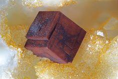 Bariopharmacosiderite,  BaFe+++4(AsO4)3(OH)5•5(H2O) , Clara Mine, Oberwolfach , Black Forest, Germany. Fov 2 mm. Photo Reinhold