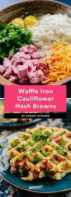 5. Waffle Iron Cauliflower Hash Browns #greatist https://greatist.com/eat/keto-breakfast-recipes