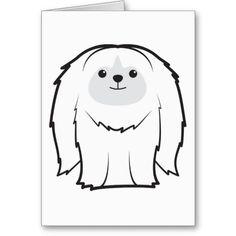 Pekingese Dog Cartoon Card