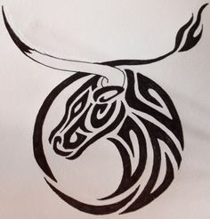 Taurus Zodiac Tattoo Designs – Best tattoos designs and ideas for men and women Ox Tattoo, Tattoo Tribal, Taurus Tattoos, Zodiac Tattoos, Symbol Tattoos, Get A Tattoo, Body Art Tattoos, New Tattoos, Tattoos For Guys