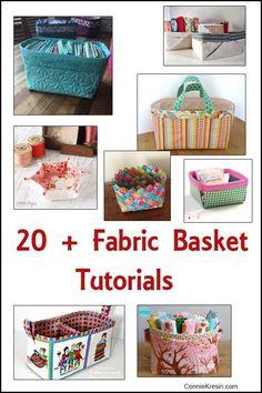 20 + Free Fabric Basket Tutorials - ConnieKresin.com
