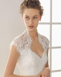 rosa clará - wedding dress - bridal - two by rosa clará - 2013 - damaris - taffeta and beadwork gown, in ecru
