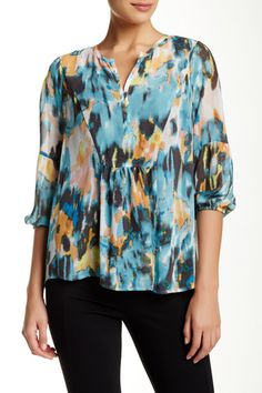 Blurry Ruched Blouse