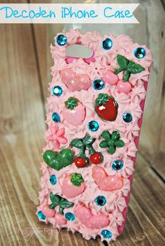 Mod Podge Decoden Cookie Jar & Phone Case Tutorial using the trinkets Mod Mold.