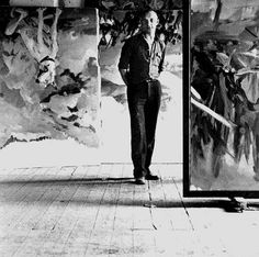 Georg Baselitz in his studio 1971 by Lothar Wolleh