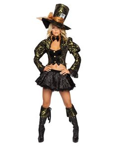 Deluxe Sexy Tea Party Tease Mad Hatter Costume!!! LOVE THIS!!