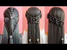 26 Braided Back To School HEATLESS Hairstyles! 🌺 Best Hairstyles for Girls HAIR Tutorial: how to do quick & easy, side bun hairstyles for everyday, prom & we. Side Bun Hairstyles, Cool Hairstyles For Girls, Heatless Hairstyles, Trendy Hairstyles, Hairstyles 2016, Short Haircuts, Beautiful Hairstyles, Hair Places, Her Hair