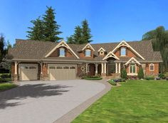 Front Rendering - check out the rear living porch