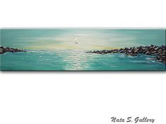 ORIGINAL Abstract Turquoise Seascape by NataSgallery on Etsy