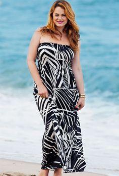 46bbdebe2b3 Baltic Plus Sized Smocked Maxi Dress Plus Size Maxi Dresses