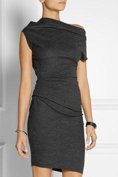 Helmut Lang|Sonar asymmetric wool dress|NET-A-PORTER.COM
