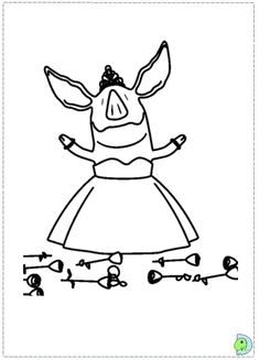 Olivia The Pig Printable Coloring Page Everly Lielle's