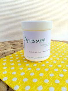 """Für eine natürlich schöne Bräune  Mit dem saisonalen """"Après soleil"""" verwöhnen Sie Ihre gebräunte Haut nach dem Sonnenbad und beruhigen sanft gerötete Hautpartien.  50 ml à Fr. 15.-"""