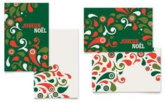 Festive Holiday Greeting Card Template Design by StockLayouts