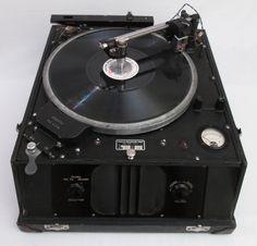 1930's Presto Portable Gramophone Recording Lathe / Record Cutting Machine