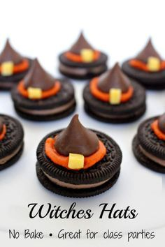 10 Undeniable Halloween Snack Ideas For Kids Party - Halloween Witch Hat Cookies