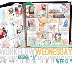 Heather Greenwood aka Scrap Happy Hippie: Why I Choose Project Life Design A and a Weekly Format For My Scrapbook Album Project Life Organization, Project Life Planner, Project Life Freebies, Project Life Scrapbook, Project Life Album, Project Life Layouts, Project Life Cards, Scrapbook Journal, Journal Cards