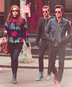 Karen Gillan, Arthur Darvill, & Matt Smith. AKA Karen and the Babes.