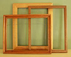 Three Wood Picture Frames. Antique Frames. Vintage by KLizVintage, $14.00