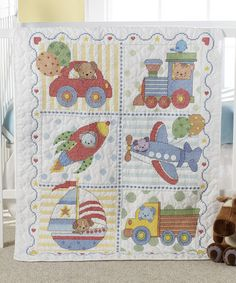 Dimensions Stamped Cross Stitch Kit, Baby Drawers Quilt | Cross ... : kits for baby quilts - Adamdwight.com