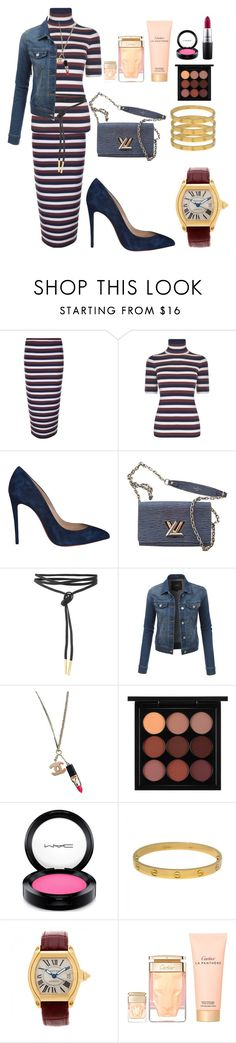 """""""Stylish girl"""" by ellenfischerbeauty ❤ liked on Polyvore featuring Victoria Beckham, Christian Louboutin, Louis Vuitton, LE3NO, Chanel, MAC Cosmetics and Cartier"""