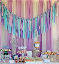 Whimsical Mermaid Party SLEEPOVER!!! - we should totally have a pre-camp party where we watch mermaid movies and craft our bikini tops together :)